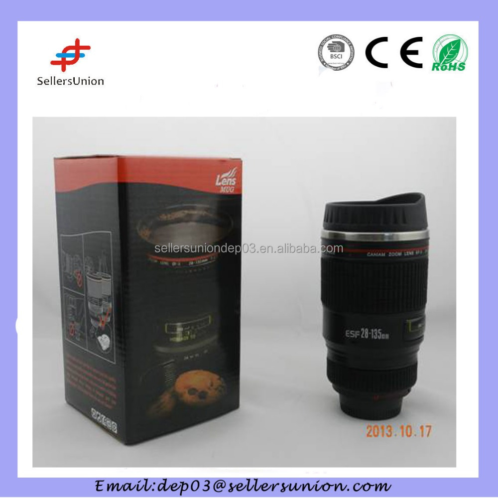Novelty Caniam EF 161mm S Stainless Steel Camera Lens Coffee Cup