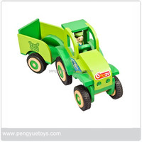 2015 Wooden tractor toy best price for sale