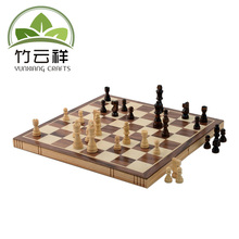 Indoor and outdoor game chess Wood chess set with magnets