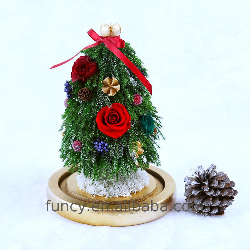 2017 Hot New Products Preserved Pine Desk Christmas Tree With Led Light <strong>Decoration</strong>