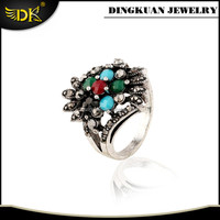 fashion o ring antique silver ring alloy material jewelry for women