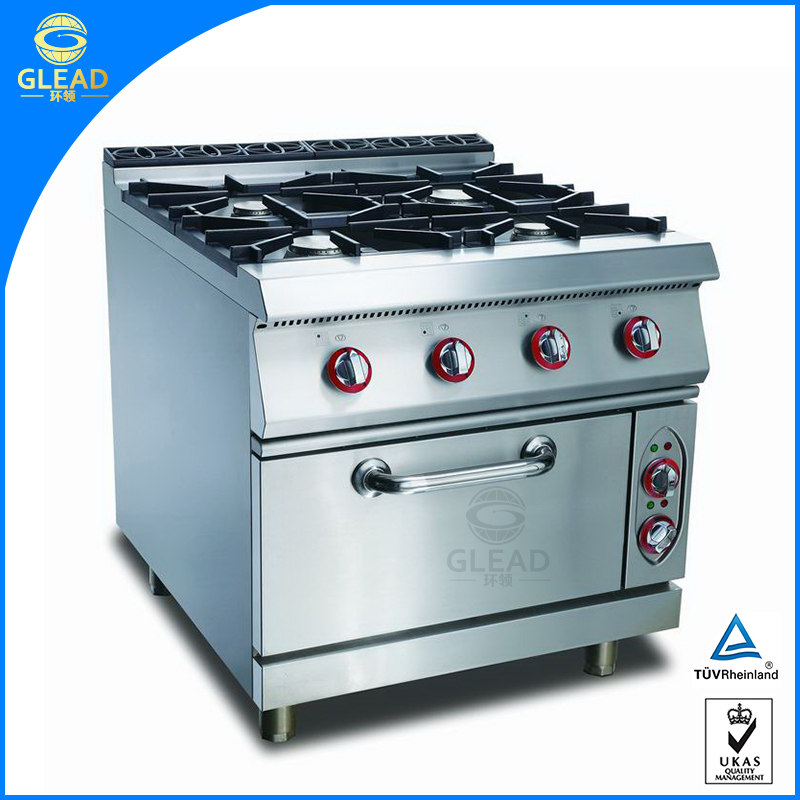Commercial cooking range with oven price in india/4 burner propane stove with oven