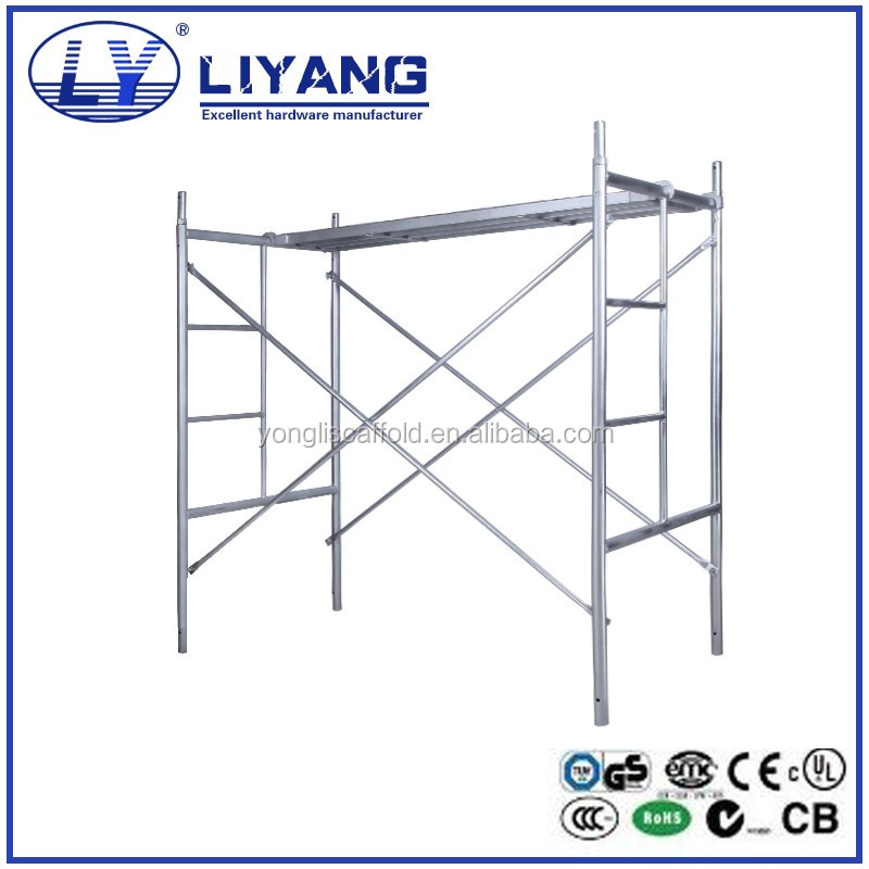 American Standard Construction Used Galvanized A Ladder Frame Scaffolding for Sale