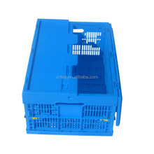 Collapsible plastic mesh crate with topcover for fresh fruits