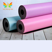 New Fitness Yoga Mat Rubber Eco PU Natural Rubber Thin Yoga Mats with Position Line