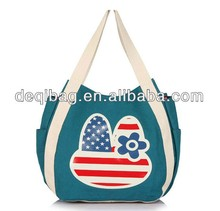 Custom printed canvas tote bag