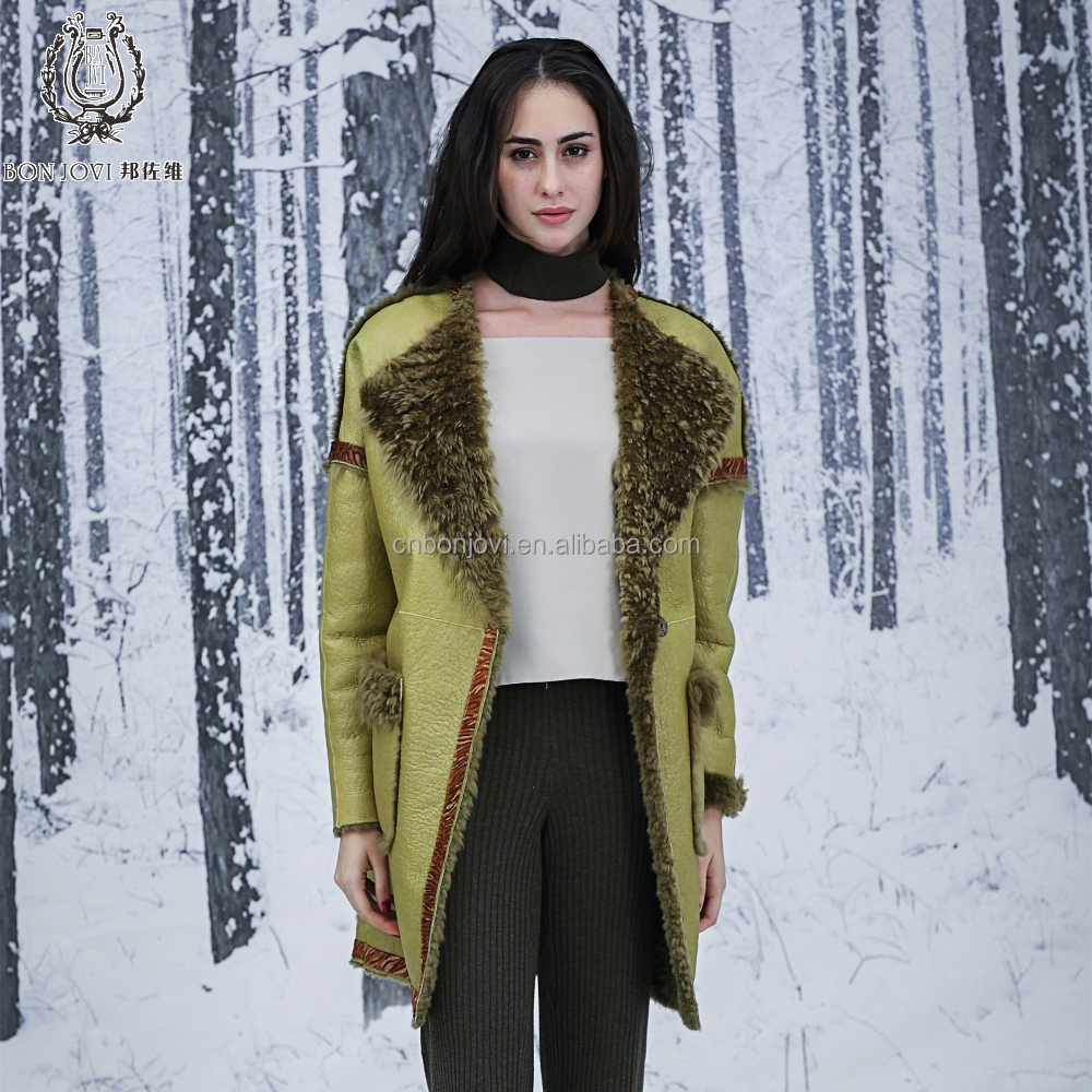 Terrific Color Sheepskin Fur Jacket Reversible Attractive Style Sheep Fur Leather Coat Double Faced Fur Overcoat