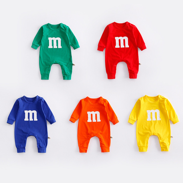 Alibaba Online Shopping Newborn Baby Clothes M Beans Baby Romper Infant Long Sleeve Jumpsuits Clothing Baby