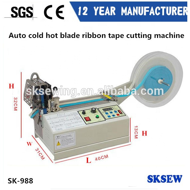 Automatic hot blade knife ribbon strap cutter webbing Belt Cutting Machine