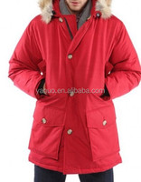 the latest coat styles for men fur hooded white coat goose feather jacket,men down coat