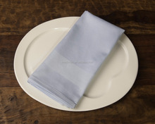 5 star hotel cotton custom satin band table napkins and table cloth
