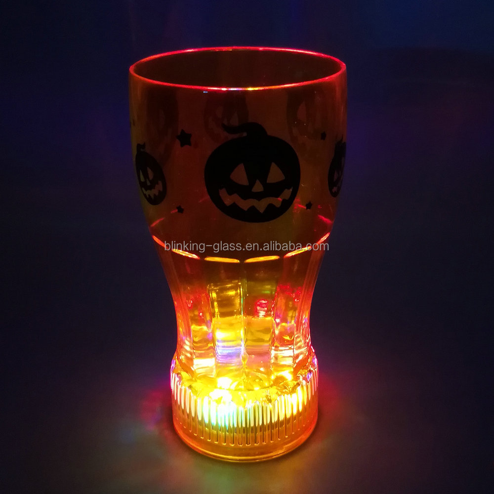 LED Twinkling Coke Cup with liquid activated function and switch on/off