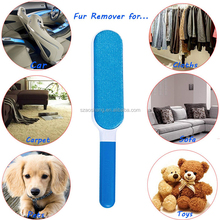 Reusable pet fur & lint remover with self-cleaning fur wizard