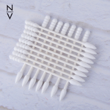 200pcs clean sterile spiral cotton swabs for makeup