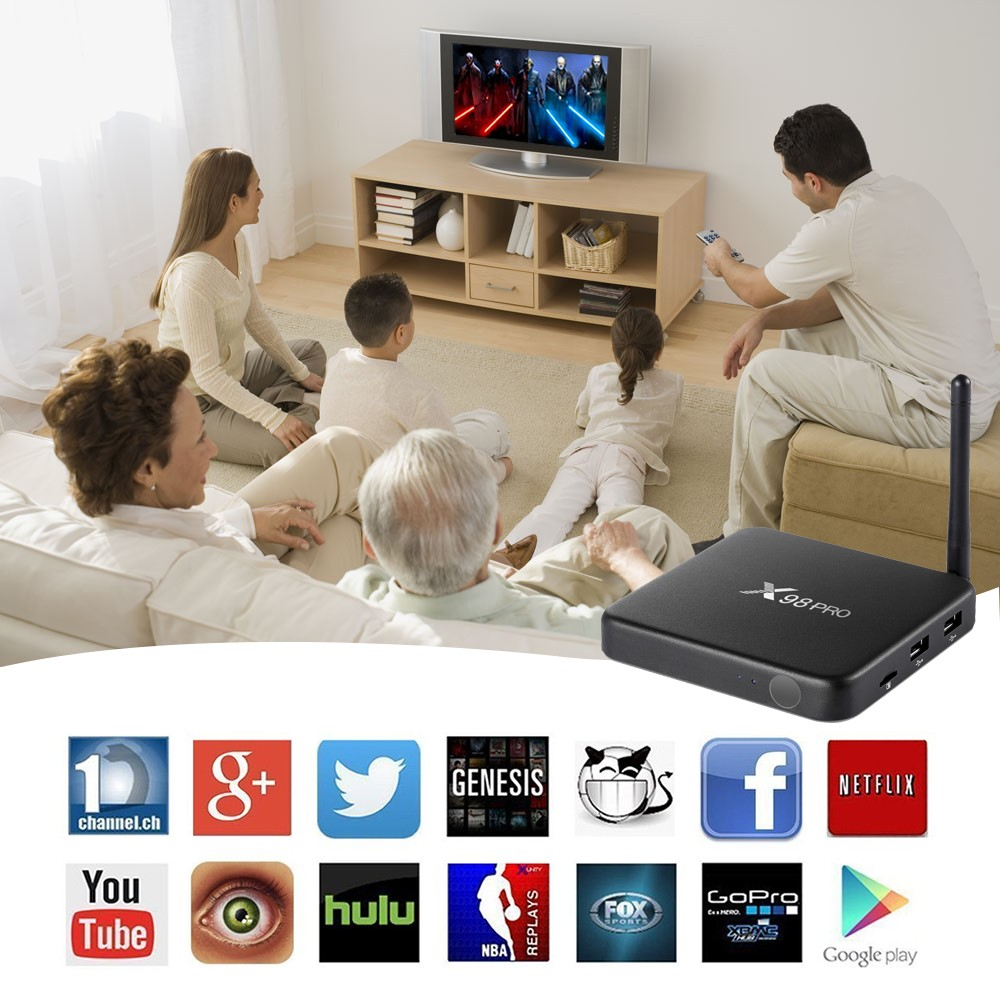 x98 pro S912 android 6.0 wifi bluetooth ddr 3g emmc 32gb all support kinds of formats smart android tv set top box hot