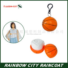 PE Material ball rain poncho waterproof disposable poncho
