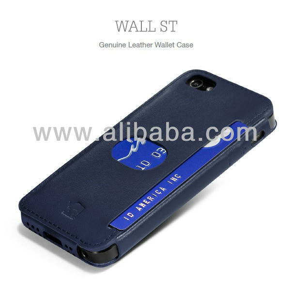 id America 2013 lastest product - WALL ST Genuine Leather Wallet Case