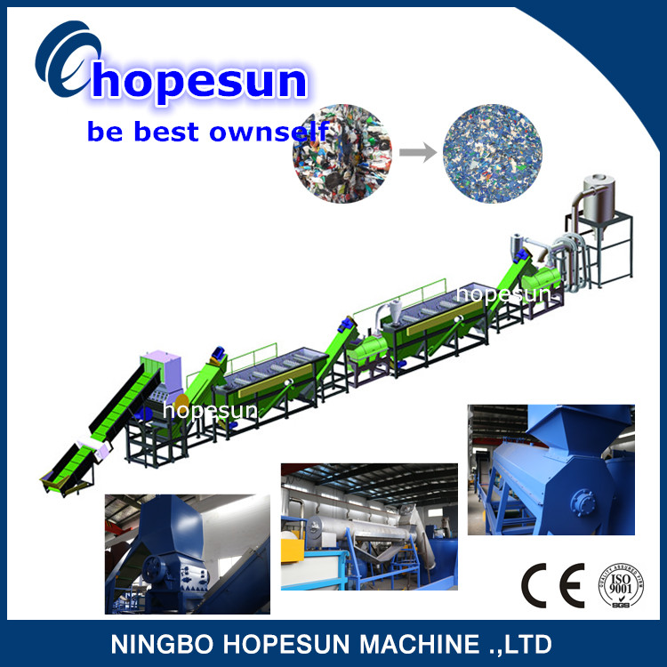 good quality waste plastic film washing and recycling machine