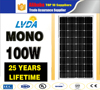 Top 10 Manufacture High Quality 100w mono Solar Panel with 36 cells 20% efficiency in El Salvador market