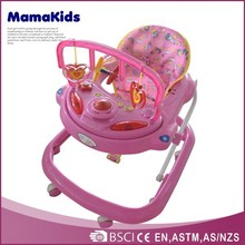 Foldable and adjustable infant walkers 2015 cheapest baby walker with brakes