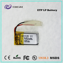 High capacity rechargeable lithium polymer 10v battery for toy car