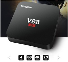 2017 V88 1GB RAM 8GB ROM RK3229 TV Box Quad Core Android 5.1 Lollipop android Set Top Box