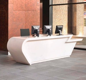 Easy cleaning pure acrylic solid surface customer service counter
