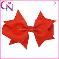 Free Shipping Charming Pattern Headband Accessory Hair Bow With Clip For Girls CNHBW-14111202-4W2