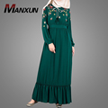 Modes Muslim clothing Floral Hand Embroidery Islamic Maxi Dresses For Women Long Sleeves Adults Abaya