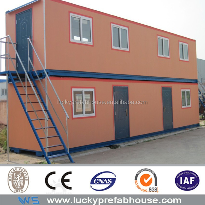 20ft prefabricated container houses 20feet container houses two-story container house