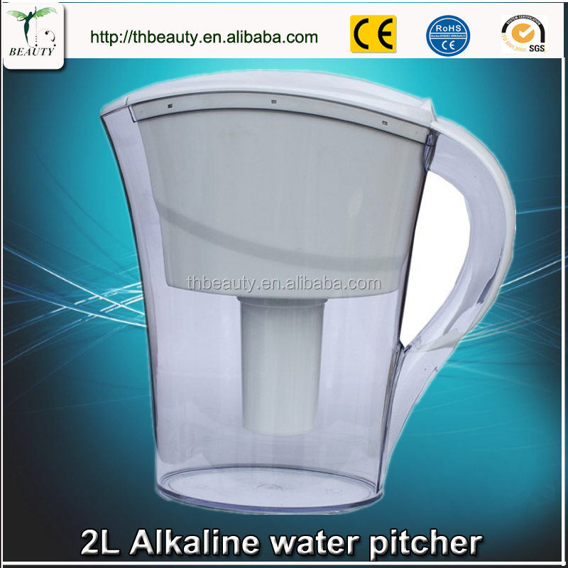 Filter water purifier pitcher clear ABS/AS/PP drinking alkaline water filter jug