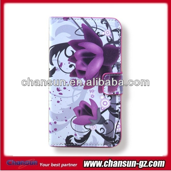 wholesale flower design wallet leather case for samsung galaxy grand duos i9082