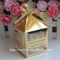 Personalzed Islamic wedding favour boxes,marriage decoration
