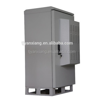 China Wholesale Outdoor Electronic Cabinet/Cooling Equipment Metal Rack SK-65125/IP55 Telecom Enclosure With Heat Exchanger
