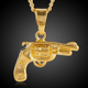 2018 Wholesale New Design 18K Gold Plated Gun Necklace Pendant For Hiphop Jewelry