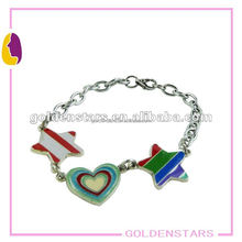 2015 Summer Holiday hot unique colorful Star Charm Bracelet for lovers gifts