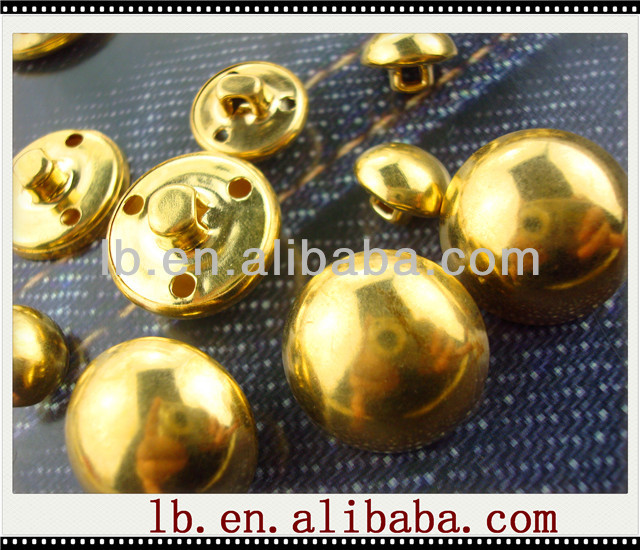 gold/silver..2013 new fashion design colorful square/round 16/12/40mm big flatback antique metal coat brass sewing shank buttons