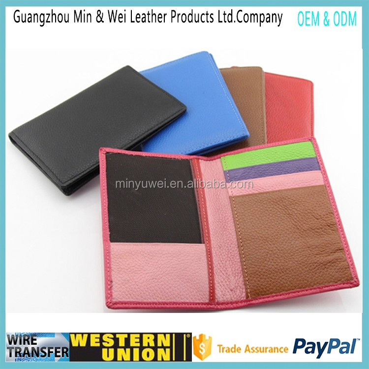 Colorful soft leather passport holder travel good craft