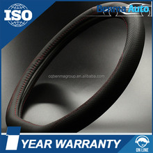2016 new hot sell economical universal leather 38cm diameter car steering wheel cover