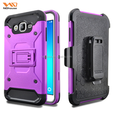 For samsung J7 accesorios celular 4 in 1 heavy duty kickstand belt clip hybrid case
