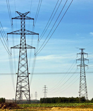 Electric power pull up power transmission line tower