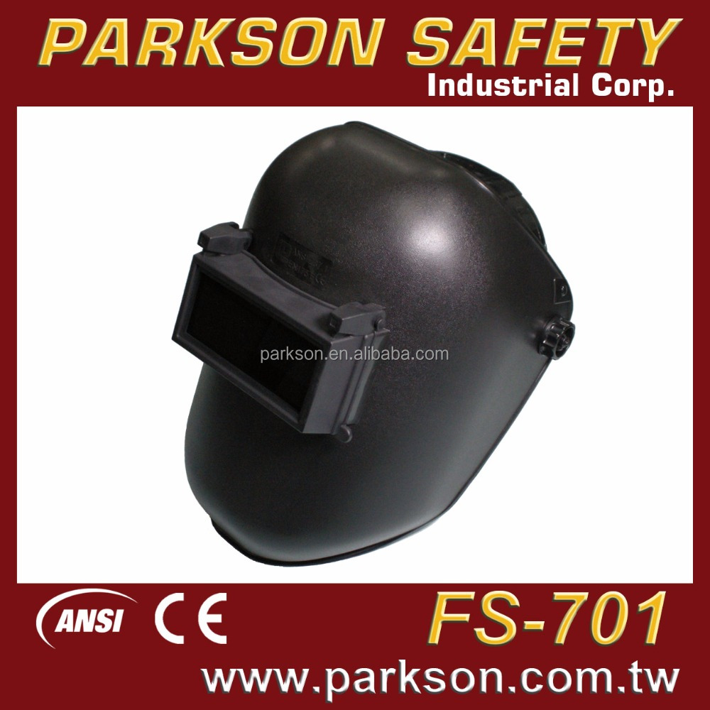 TAIWAN Top Quality Flip Up Window Black Industrial Safety Welding Helmet CE EN175 ANSI Z87.1 With Price FS-701