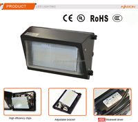 high intensity, dlc ul ce listed, ip65 industrial aluminum 60w LED wall pack light