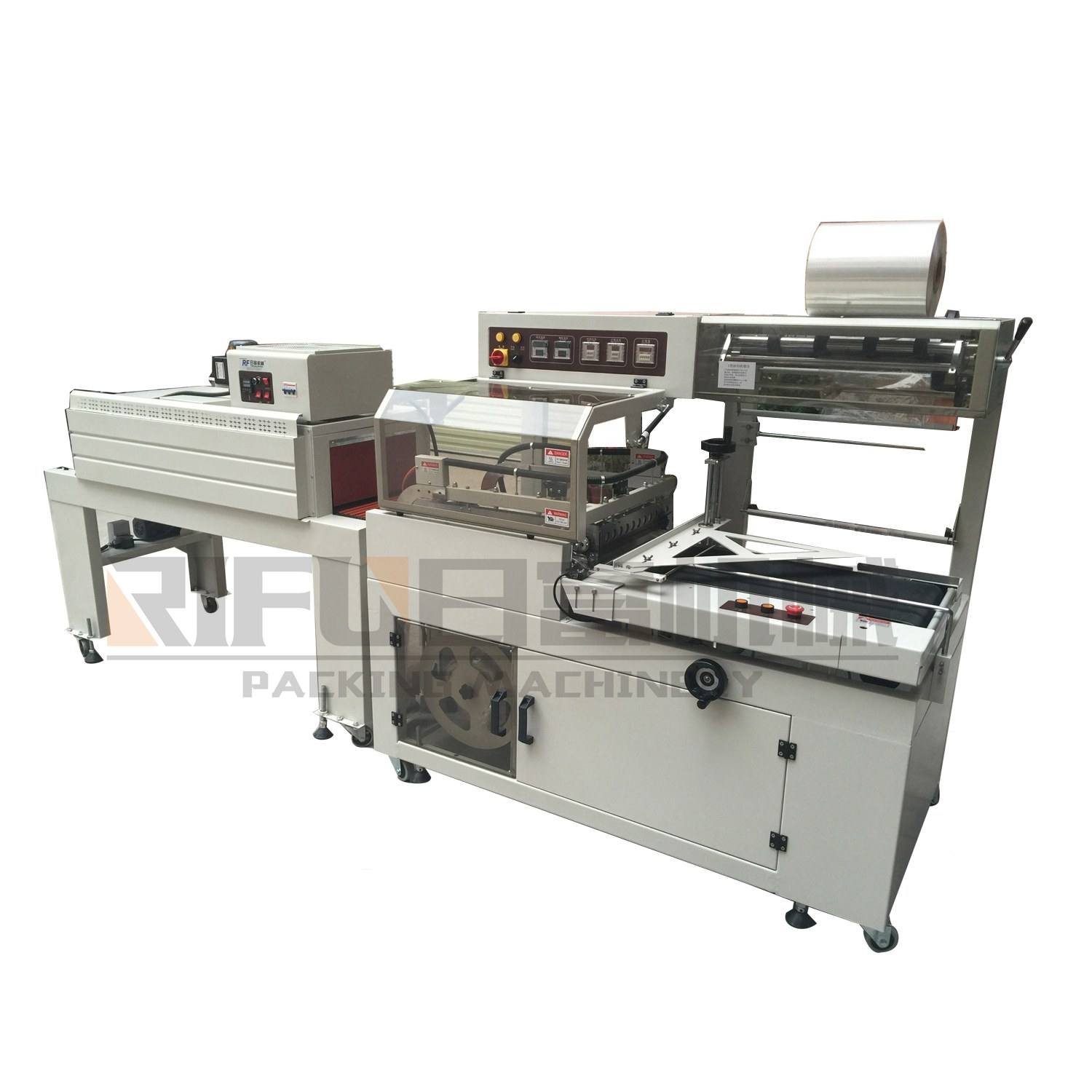 Small semi automatic heat shrink wrapping machine for carton box