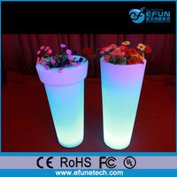 waterproof plastic led pot,decorating led flower/planter lighted tall plastic vases