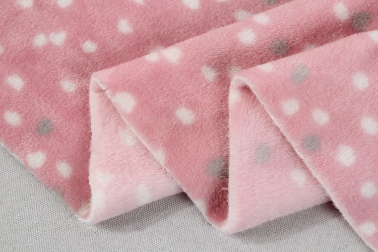 Wholesale 100% Polyester Cheap Custom Snuggle Baby Dot Plaid Flannel Fabric For Garment