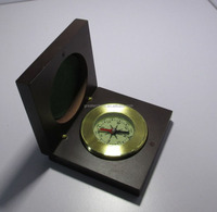 OEM copper compass with wood gift box, metal compass,OEM compass gift