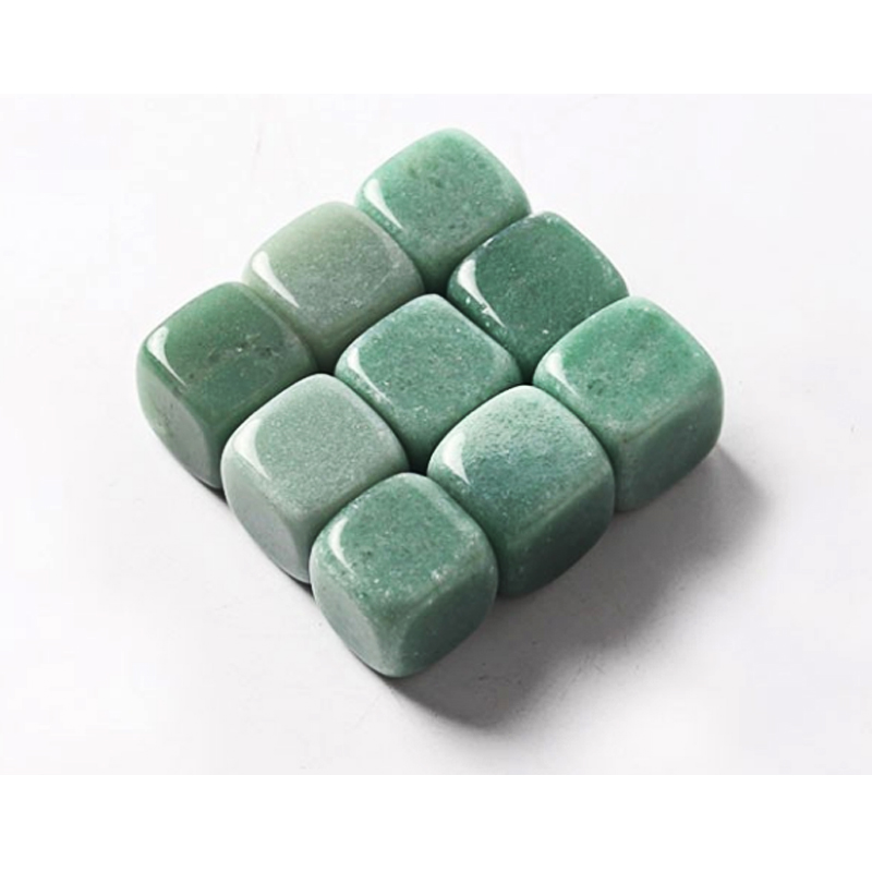 wholesale natural Green Aventurine whiskey stones gemstone whiskey ice stone sets with gift boxes