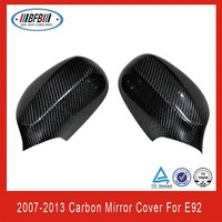 Hot sale !carbon fiber car mirror cover rear view mirror cover for bmw e92