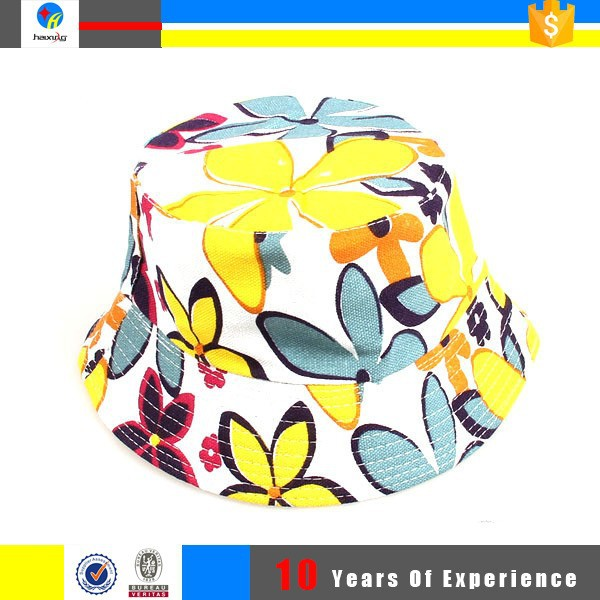 fashion colorful bucket hat for lady